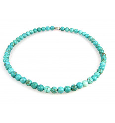 Necklace / Ras neck in Howlite turquoise. 8mm beads.