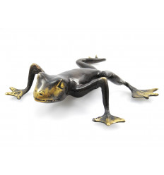 Statuette grenouille en bronze. Bibelot de collection rare. Achat.