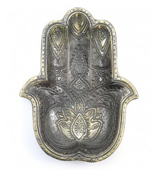 Plateau hand of fatma bronze, empty pocket, deco berber oriental.