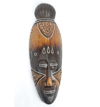 Masque Africain en bois 30cm décoration ethnique africaine.