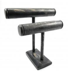 Archiviazione per gli orologi, bracciali pratica per gli uomini, in legno nero.