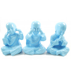 The 3 monks of the wisdom of buddha. Deco buddhist shaolin modern.