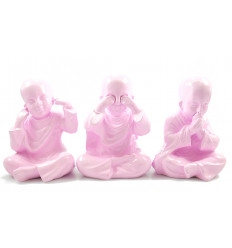 3 monks of the wisdom of buddha. Deco bohemian ethnic chic and modern.