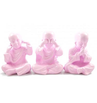 3 moines bouddha de la sagesse. Déco bohème ethnique chic moderne.