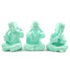 3 monaci della saggezza del buddha. Arredamento asiatico cina moderna.
