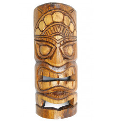 Tiki mask h30cm made of exotic wood. Wall decoration Tiki.