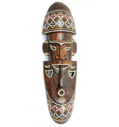 Maschera africana a buon mercato. Grande maschera di legno artigianali fatti a mano.