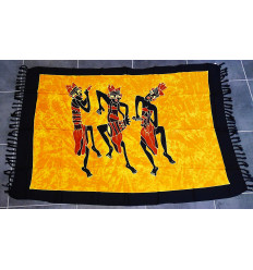 Wall hangings african batik sarong textile of ethnic decoration.