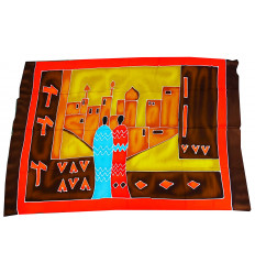 Wall hangings african batik, textile decoration multicolor.