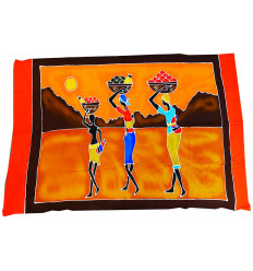 """Attaccatura di parete africano """"mercato"""" batik, un mestiere tradizionale 175x115cm."""