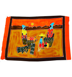 Wall hanging african, batik, sarong, beach towel, textile decoration.