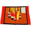 Tenture murale africaine, batik, paréo, tissu déco ethnique chic.