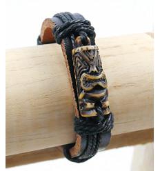 Bracciale con Tiki testa gioielli - maori, Hawaii, Tahiti