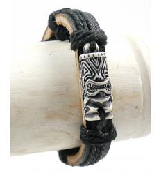 Bracciale Tiki polinesiano per uomo - gioielli surf / beach / vacanza