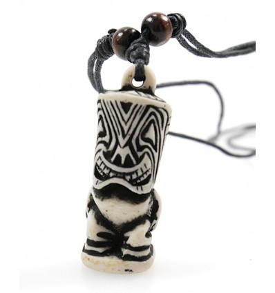 Collier tiki polynésien maori achat pas cher. Bijou tribal surfeur.