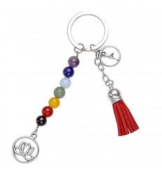 """Key-ring / sacchetto di gioielli """"7 chakra"""" stile di Yoga. La consegna è gratuita."""