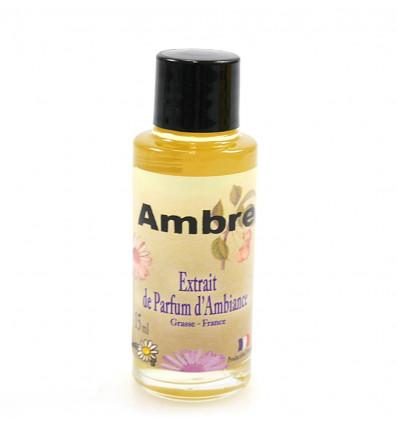 Extrait de parfum d'ambiance ambre pour diffuseur, confort bien-être.