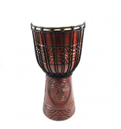 Acquistare tamburo djembe professionale tam-tam percussioni artigianali a buon mercato.