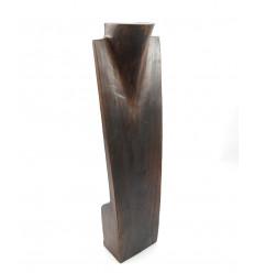 Grand présentoir en bois pour collier long sautoir bola de grossesse.