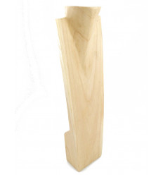 Display speciale lunghe collane H60cm busto in legno esotico lordo