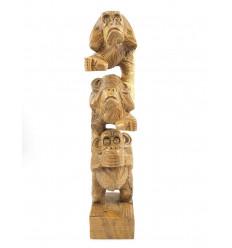 Le 3 scimmie sagge, statua, scultura, decorazione in legno di acquisto.