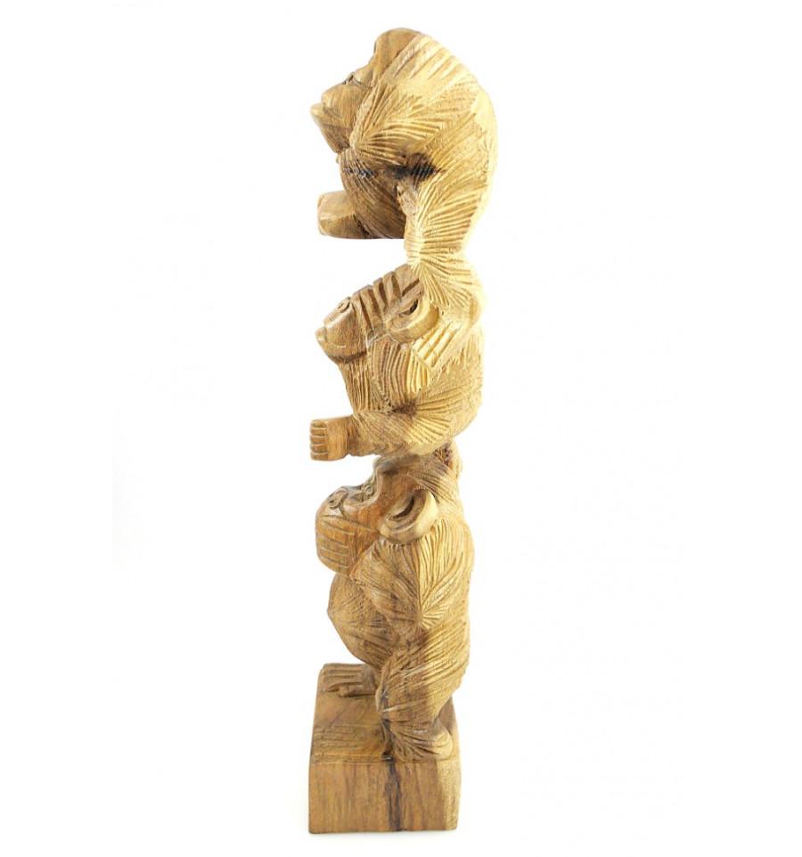 les 3 singes de la sagesse h50cm statue sculpture sur. Black Bedroom Furniture Sets. Home Design Ideas