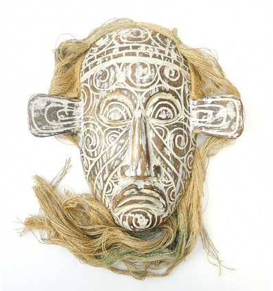 Mask primitive tribal arts. Decoration, design, ethnic chic.