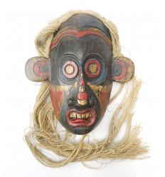Maschera primitiva, tribale, arti Borneo. Decorazione, cosmopolita e chic.