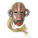 Masque indonésien primitif arts premiers Bornéo. Décoration ethnique.