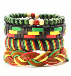 Combo 4 bracelets african assorted for man.