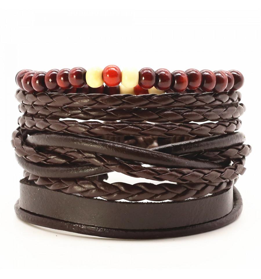 Bracelet pour homme en cuir pas cher
