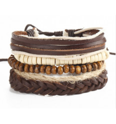 bracelet manchette homme corde tendance à la mode, achat pas cher.