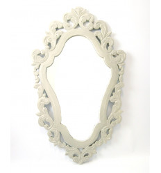 Miroir baroque en bois gris, décoration maison du monde pas cher.