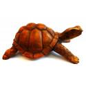 La grande statua di tartarughe di terra giganti delle Galapagos, l'intaglio del legno di acquisto.