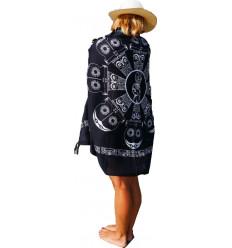 Paréo, robe ou jupe de plage. Achat sarong de Bali motif tiki.