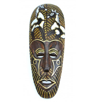 African mask wood pattern giraffe. Wall decoration african.