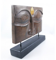 Decor Zen Buddha asian room. Sculpture, Buddha wood.