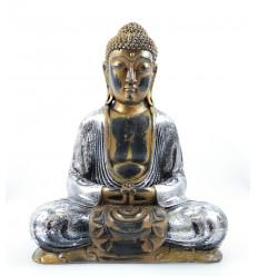 Statue of seated buddha meditation gold. Decorating zen asian purchase.
