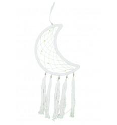 Gigante dream catcher Yin Yang 60x25cm in bianco e nero