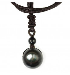 "Necklace ""heavenly eye"" Obsidian rainbow"