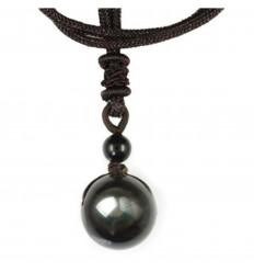 "Necklace ""heavenly eye"" Obsidian rainbow"