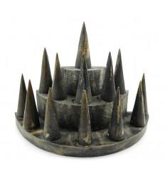 Porta-anelli / espositore per anelli (13 coni) in legno nero