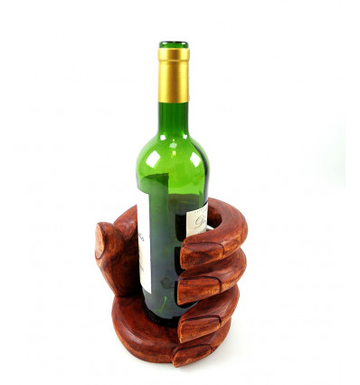 bottle holder, display wine bottle original shape by hand.
