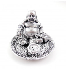 Incense holders chinese Buddha with a rosary in his hand