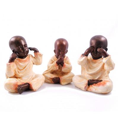 les 3 moines de la sagesse décoration, signification, achat.