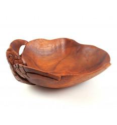 Coupelle vide-poches tortue en bois. Objet déco tortue collection.