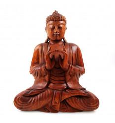 Scultura di Buddha Shakyamuni seduto in un bosco. Statua Di Buddha In Bali.
