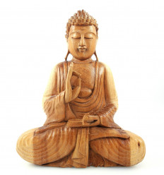 Statue sculpture Bouddha Bali bois exotique massif, achat pas cher.
