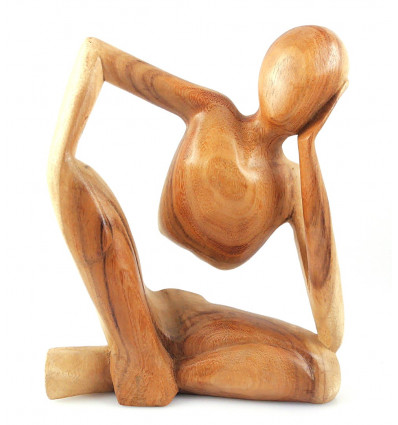 Statue Thinker African h30cm exotic wood gross