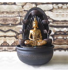 Grande fontaine d'intérieur Bouddha Chakra 40cm à éclairage Led